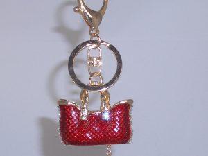 Taschenanhänger mit roter Handtasche