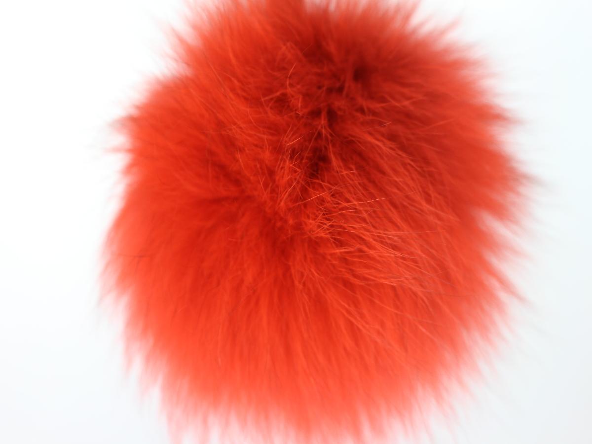 Taschenanhänger Fell, orange